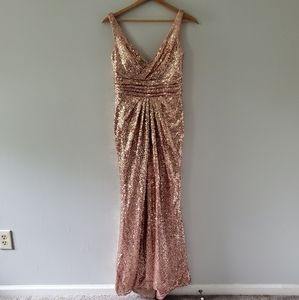 Alfred Angelo Sapphire Rose Gold Sequin Gown